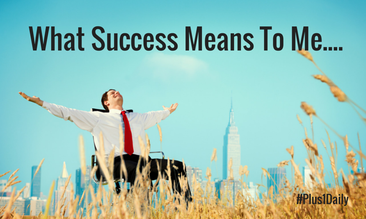 what does success mean Get an answer for 'what does it mean to be successful how is success achievedwhat does it mean to be successful how is success achieved' and find homework help for other social sciences questions at enotes.